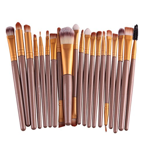 Buytra 20-Piece Makeup Brushes Makeup Brush Set Cosmetics Foundation Blending Blush Eyeliner Concealer Face Powder Brush