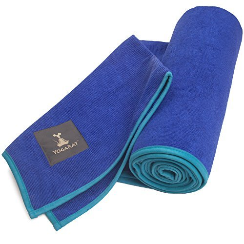 YogaRat Hot Yoga Towel: 100% Microfiber, 600 gsm Ultra Thick for Bikram, Yoga Mat Size and Hand Size Towels