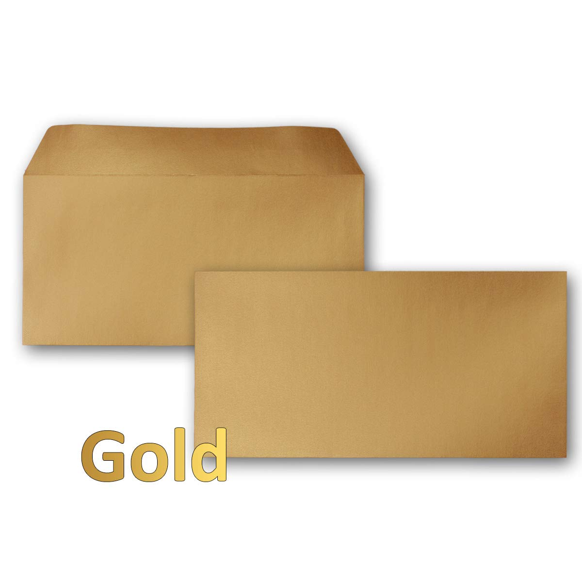 500 Kupfer-Metallic Brief-Umschläge DIN Lang - 100 x 220 mm - Haftklebung - glänzende KuGrüns für große Einladungen und Karten, Hochzeit & Weihnachten B0136H38XO | Ausgewählte Materialien