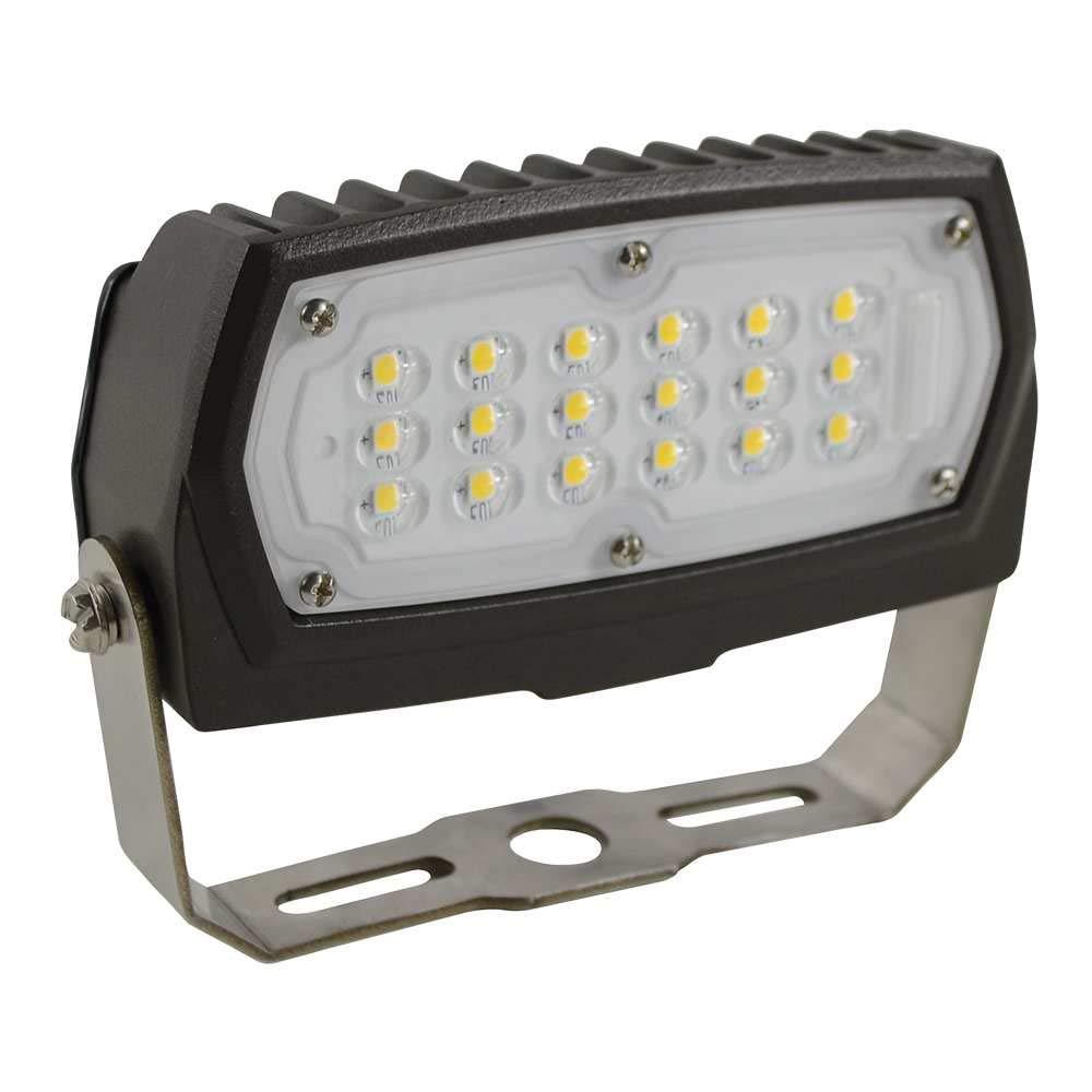 Halco Lighting Technologies ProLED 12-Watt Bronze Outdoor Integrated LED Small Landscape Flood Light Fixture