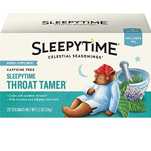 (Celestial Seasonings Wellness Tea, Sleepytime Throat Tamer, 20 Count Box)