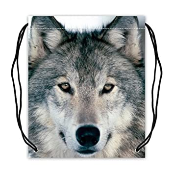 Amazon.com: Cool Animal Wolf Wolves Basketball Drawstring Bags ...