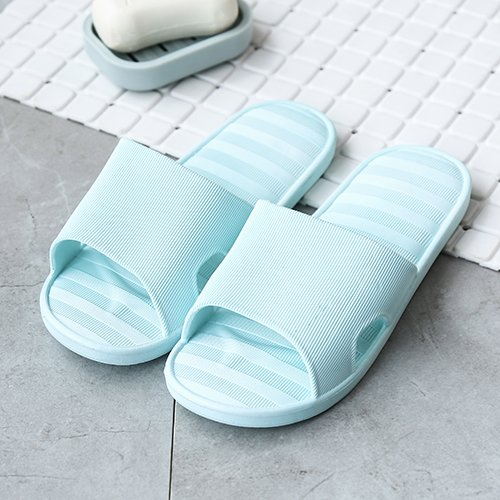 Baths Home Slippers Cold Men's Striped 37 There Slip Slippers Summer Blue of Shoes 38 and Soft S Bottom Indoor Non Couple a fankou tq5vPz7wnn