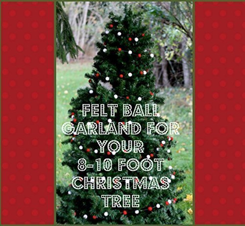 Christmas Tree Garland.Amazon Com Wool Felt Ball Garland For Your 8 10 Foot