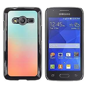 iKiki Tech / Estuche rígido - Glass Peach Pink Stripes Color Fog - Samsung Galaxy Ace 4 G313 SM-G313F