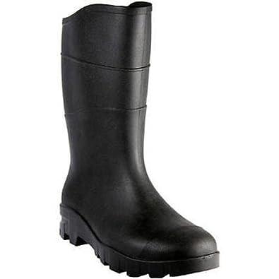 Unisex Rubber Rain Boots Black Men's 7/Women's 9