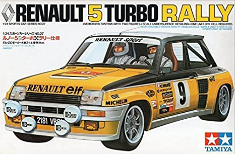 24 Sports Car Series No. 27 Renault 5? (Thunk) turbo rally specification motorized: Toys & Games