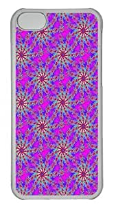 IMARTCASE iPhone 5C Case, Magenta Psychedelic Starburst Fractal Background Seamless PC Hard Case Cover for Apple iPhone 5C Transparent