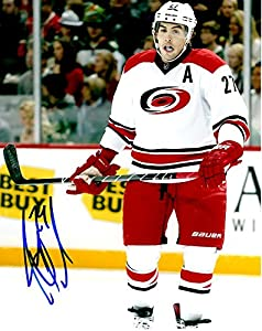 Signed Justin Faulk 8x10 Photo Carolina Hurricanes - Certified Autograph