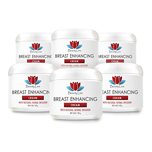Beauty cream - Breast Enhancing Cream With Natural Herbal Infusion - Chest bigger - 6 Jars by Sport Supplements, LLC