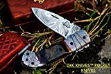 DKC Knives (24 5/18) SALE DKC-726 CLINT Damascus Folding Pocket Knife 4.5″ Folded 7.5″ Long 3″ Blade 8 oz oz Review