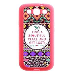 Aztec Tribal Patterned Protective Pink Rubber Cover Case for SamSung Galaxy S3 WANGJING JINDA