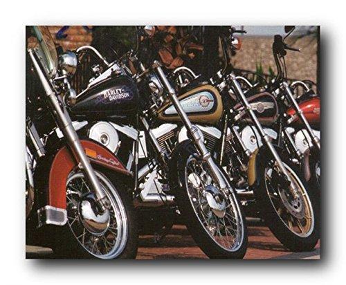Harley Davidson Motorcycles In Row Wall Decor Art Print Poster