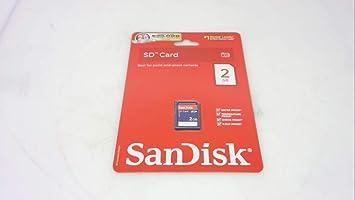 SanDisk 2GB Class 2 SD Flash Memory Card (SDSDJ-2048 ...