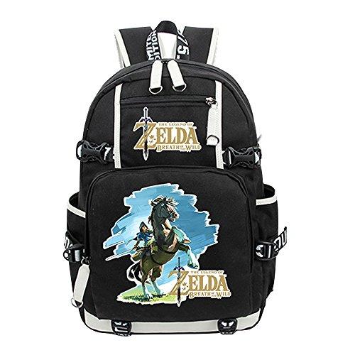 Legend Zelda Backpack School Bag Bookbag Messenger Bag Shoulder Daypack (3) (Canvas Zelda Messenger Bag)