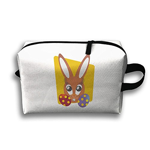 Easter Bunny Don't Exist Been Cancelled Travel Bag Cosmetic Bags Brush Pouch Portable Makeup Bag Zipper Wallet Hangbag Pen Organizer Carry Case Wristlet Holder -