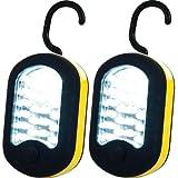 Stalwart 2 Piece Set of LED Work Lights with Magnet Back