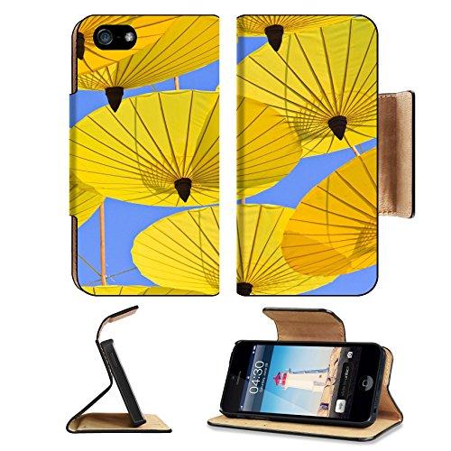MSD Premium Apple iPhone 5 iPhone 5S Flip Pu Leather Wallet Case iPhone5 IMAGE ID: 29507673 Paper umbrella handmade umbrella of Ban Bosang Chiang Mai Asia - Ban Image