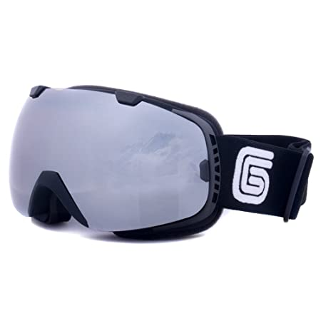 Grayne GTO Blackout Snowboard Ski Goggles with Polarized Anti-Fog Lens