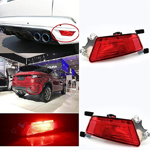 Clidr Rear Bumper Fog Light Tail Lamp With Bulb For Range Rover Evoque 2012-2014 Right Side (Passenger side right)
