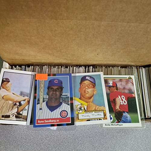 600 Baseball Cards Including Babe Ruth, Unopened Packs, Many Stars, and Hall-of-famers. Ships in Brand New White Box Perfect for Gift Giving. Includes At Least One Original Unopened Pack of Topps Vintage Baseball Cards That Is At Least 25 Years Old! - Old Vintage Baseball Card
