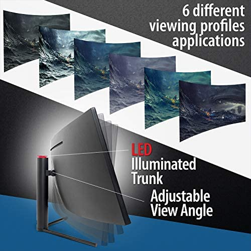 Deco Gear - Monitor de juegos E-LED curvo ultra amplio de 43 , relación de aspecto 32:10, resolución inmersiva 3840x1200, frecuencia de actualización de 120Hz, relación de contraste 3000: 1 (DGVIEW430)