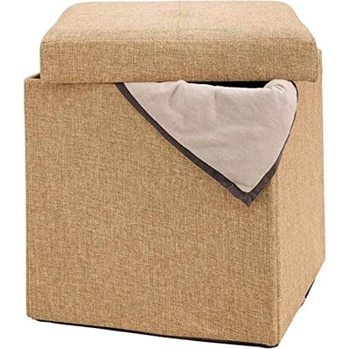 GT Ottoman Folding Storage Containers Multi Upholstered Stool Bench Home Ottoman Tray Lid Tufted Furniture Ottoman Bench Seat Living Room & E book Easy 2 Find. by GT