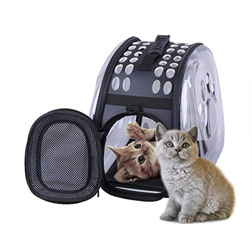 Sunny&Lucky side edge into Pet Carrier for Cats and Dogs collapsible,made from suitcase material a great alternative to pet house and pet carrier purse