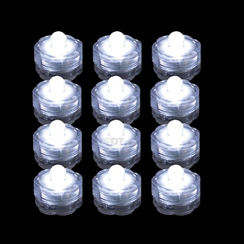 12 Submersible LED Waterproof Lights RGB for Vase Wedding