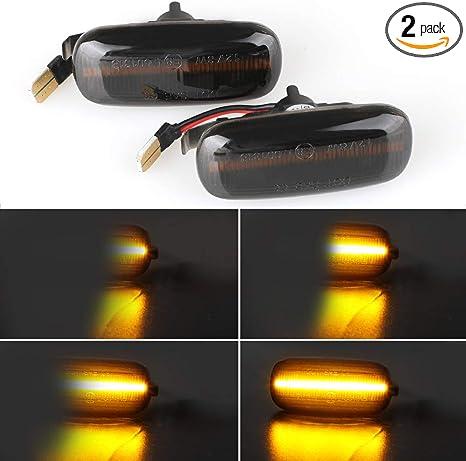 2 Pcs Dynamic Amber LED Side Marker Indicator Light for A4 S4 B6 B7 A6 C5 Tt A8 Replace Oem Side Marker Light