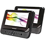 "Sylvania SDVD8739 7"" Dual-Screen Portable DVD Player"