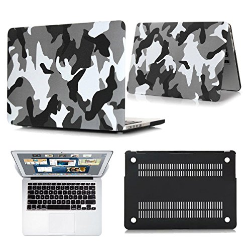 DC Camouflage Rubberized Hard Case for MacBook Air 11 13 Pro 13 15 Retina. (Pro 13.3'' A1278, City Camo)