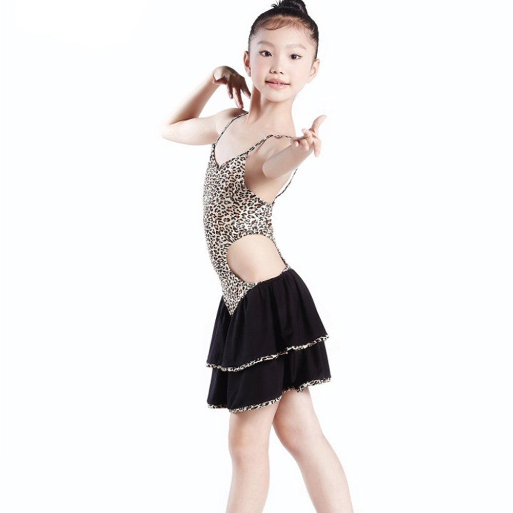 WuYi KD1220 Leopard grain condole belt Girls Ballroom Dress Child Latin Skirts