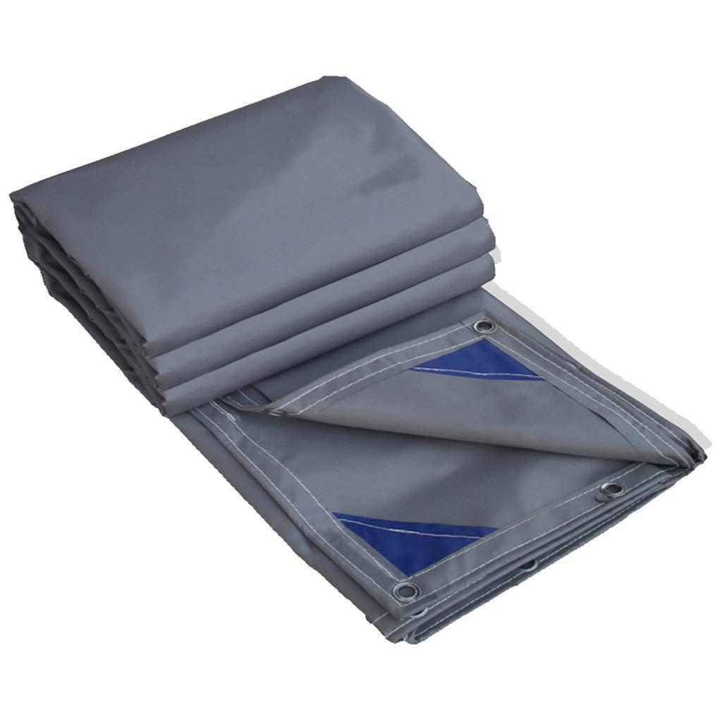 WSGZH Grauer Wasserdichter Mehrzweck-Planen-Bodenbelag, UV-Schutz, FeuchtigkeitsBesteändigkeit, Reißfestigkeit, Dicke 0,4 Mm, 450 G   M2, Verschiedene Größenoptionen