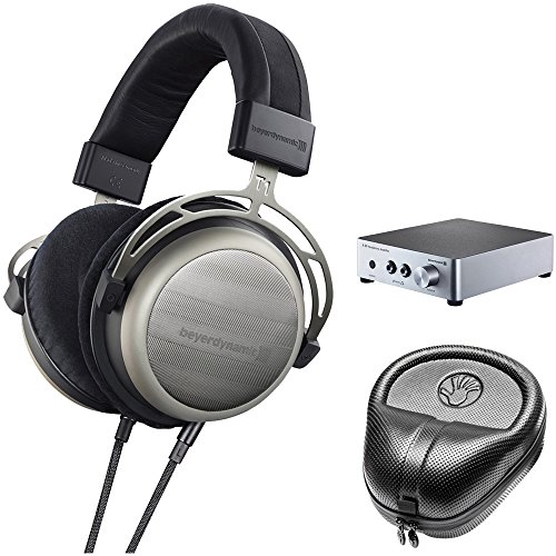 BeyerDynamic T1 Second Generation Audiophile Stereo Headphone 718998 w/ Amp Bundle Includes, BeyerDynamic A20 Headphone Amplifier, Slappa Headphone Case