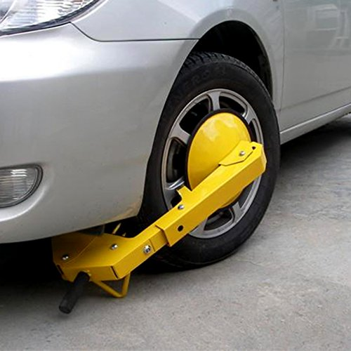 Hurbo Wheel Lock Clamp Adjustable Tire Boot Lock Anti-Theft Lock Clamp Boot Tire Claw for Parking Car Truck RV Boat Trailer