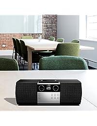 Philips Portable Micro Hi Fi sistema de sonido de música, reproductor de CD, MP3 CD, CD y CD R RW, Mega Bass Dinámico Stereo Boost Altavoz, Entrada Directa USB, y Radio FM, Diseño Compacto,