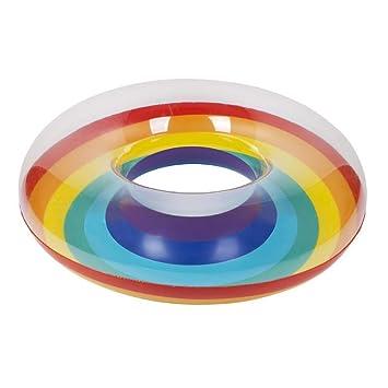 Tempshop Tubo Inflable Flotador Piscina Arco Iris Anillo de natación Verano Playa Adultos Niños Seguridad Juguete acuático Regalo: Amazon.es: Deportes y ...