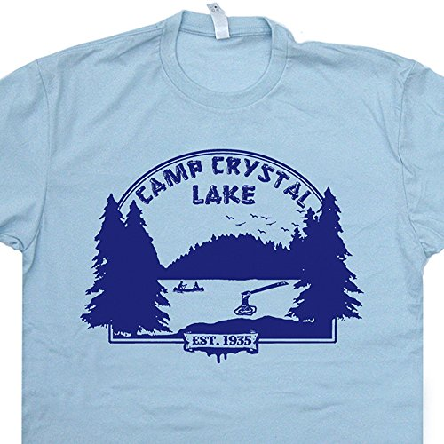 Youth M - Camp Crystal Lake T Shirt Councelor Shirts Vintage Funny Cult 80s Horror Movie Tshirt Poster Jason