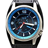 FW397C New Black Dial Black Band Round PNP Shiny Silver Watchcase Fashion Watch