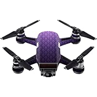 Skin For DJI Spark Mini Drone – Antique Purple   MightySkins Protective, Durable, and Unique Vinyl Decal wrap cover   Easy To Apply, Remove, and Change Styles   Made in the USA