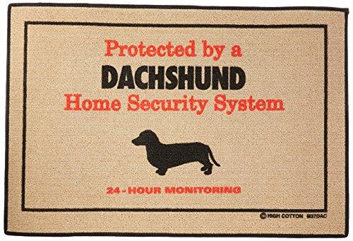 High Cotton Home Security Dachshund Doormat (Door Dachshund Mat)