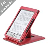 Acase Genuine Leather Flip Case for Classic Kindle (Latest Generation 2011) with Multiple Position Stand (Red)