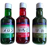 MEIDI-YA かき氷シロップ350ml いちご メロン 宇治 の3点セット