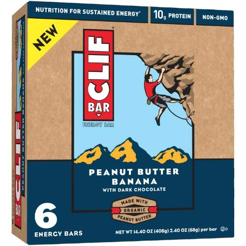 Peanut Butter Dark Chocolate Banana Energy Bar (Pack of 10)