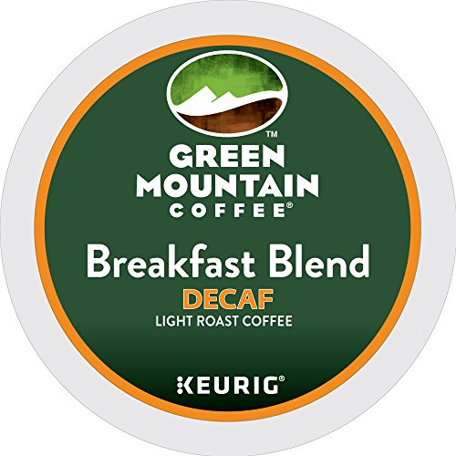 Green Mountain Coffee Breakfast Blend Decaf Keurig Single-Serve K-Cup Pods, Light Roast Coffee, 72 Count (6 Boxes of 12 Pods)