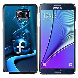 KLONGSHOP // Cubierta de piel con cierre a presión Shell trasero duro de goma Protección Caso - Remolino abstracto azul - Samsung Galaxy Note 5 5th N9200 //