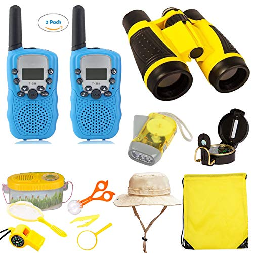 EWsin Outdoor Kit Toys for Kids-Set of 12 Adventure Kid Camping Exploration Toys, Outdoor Explorer Kit for Kids, Camping Toys for Kids, Nature STEM Education for Children, Boys Birthday Gifts by EWsin (Image #1)
