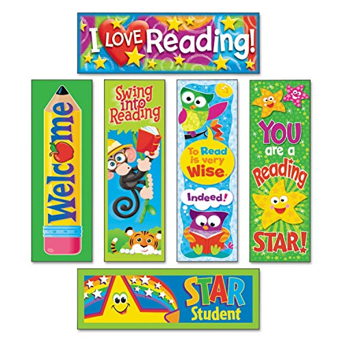 TREND Bookmark Combo Packs, Reading Fun Variety Pack #2, 2w x 6h, 216/Pack - T12907