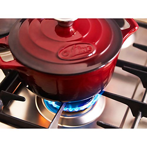La Cuisine 6.5 Qt Enameled Cast Iron Covered Round Dutch Oven, Red by La Cuisine (Image #3)